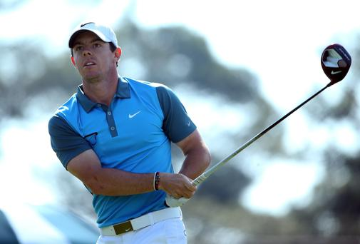 Rory McIlroy was outscored by his marker in the first group out. Photo: Getty Images