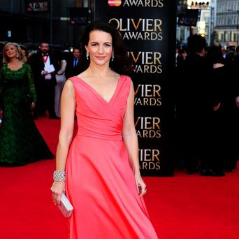 Kristin Davis attends the Olivier Awards at the Royal Opera House in Covent Garden, London. PRESS ASSOCIATION Photo. Picture date: Sunday April 13, 2014. Ian West/PA Wire