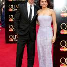 Richard Fleeshman and Samantha Barks attends the Laurence Olivier Awards at The Royal Opera House on April 13, 2014 in London, England. (Photo by Tim P. Whitby/Getty Images)