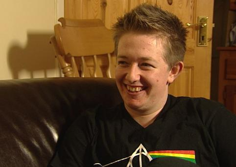 Sam, who is UCD Student Union's LGBT Coordinator, made the transition from female to male with the full support of his family and friends. (Photo: TV3)