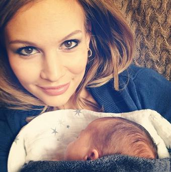 Anna Saccone and her newborn son Eduardo (Photo: Instagram/Anna Saccone)