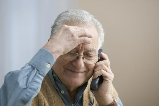 The Senior Helpline is receiving many calls from older lonely people