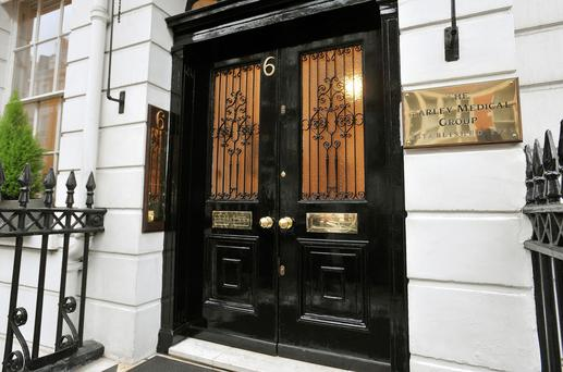 An office of the Harley Medical Group, in central London, as the group has been targeted by a computer hacker who may have accessed details of nearly 500,000 people considering procedures. John Stillwell/PA Wire