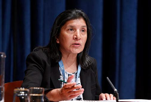 """UN special rapporteur on violence Rashida Manjoo who said misogyny in the UK was more """"in your face"""" than anything she had seen before."""