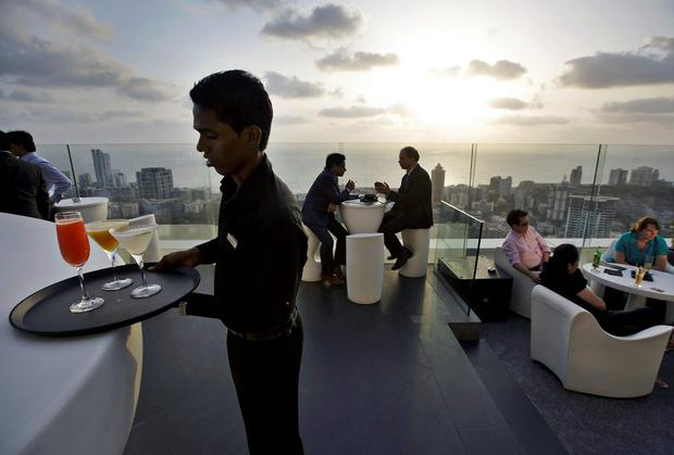 The rooftop bar at the Four Seasons hotel in Mumbai. Diageo is seeking to cash in on India's wealthy consumers