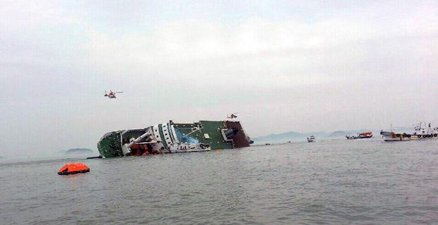 Korean television news reports said the ferry was sinking and that many of the passengers on board were students on the way to Jeju island, about 100 km (60 miles) off the coast, on school trips. Reuters