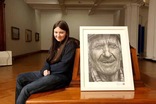 Coleman by Shania Mc Donagh, from Mount St Michael Secondary School, Mayo has won category A in this year's 2014 Texaco Children's Art competition. Pic: Mac Innes Photography