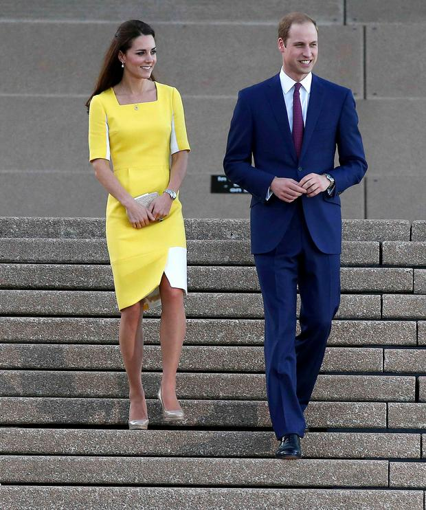 Kate stunned in her bright yellow Roksanda Ilincic dress on the first day of her Australia tour