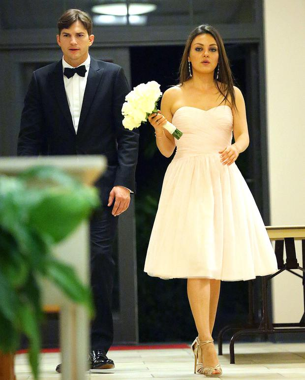 No, it's not their big day! Mila played bridesmaid for a pal's recent wedding, where she was joined by Ashton Kutcher