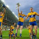 Clare players Seadna Morey, Conor Ryan, Tony Kelly and John Conlon celebrate All Ireland glory in 2013 - but Clare did not kick on