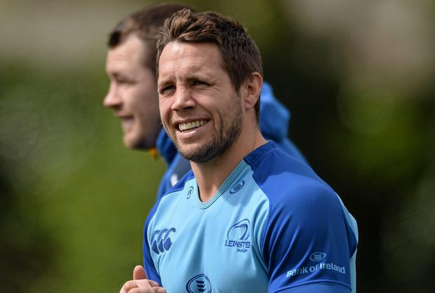 Leinster's Isaac Boss during squad training