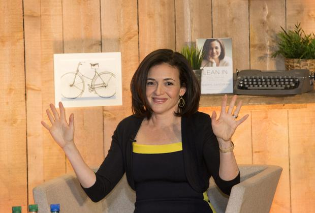Sheryl Sandberg, author of Lean In and COO of Facebook speaking in Dublin this morning on ways women are held back through gender biases and how women and men can work together to create a more equal work place. Photo: Mark Condren