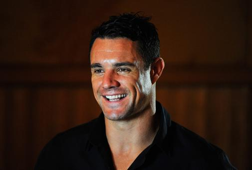 Dan Carter of the New Zealand All Blacks