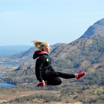 Irish dancer Shauna Rock (18) getting in some practice at the Killarney Lakes. Her mum Majella O'Dwyer took the snap which has been viewed tens of thousands of times on Facebook