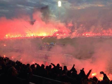 The pre-match setting for PAOK and Olympiakos
