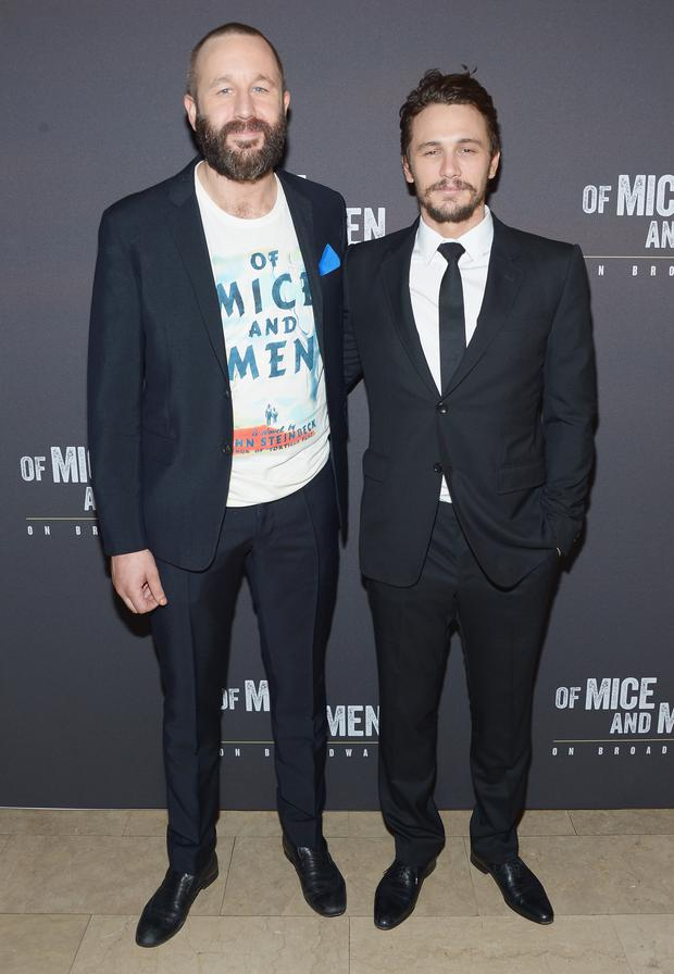 Actors Chris O'Dowd and James Franco attend the after party for the Broadway opening night for