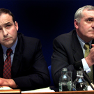 Micheal Martin and Bertie Ahern pictured together in 2001
