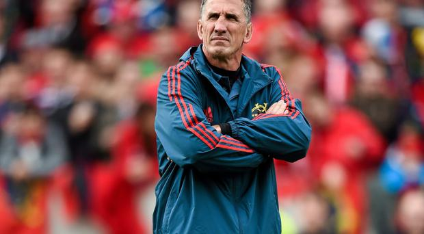 Munster coach Rob Penney says his side must learn lessons from their defeat to Glasgow and quickly move on. Photo: Stephen McCarthy / SPORTSFILE