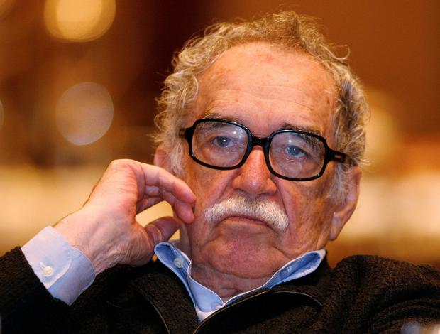 Colombian Nobel Prize laureate Gabriel Garcia Marquez listens to a speech during a journalism seminar in Monterrey in this September 1, 2008 file photo. Garcia Marquez, the Colombian author whose beguiling stories of love and longing brought Latin America to life for millions of readers and put magical realism on the literary map, died on April 17, 2014. He was 87. Known affectionately to friends and fans as