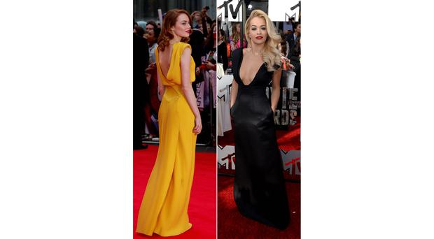 Hit: Emma Stone (left). Miss: Rita Orr (right)