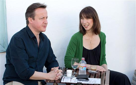 David Cameron and his wife Samantha on holiday in Lanzarote Photo: Getty Images