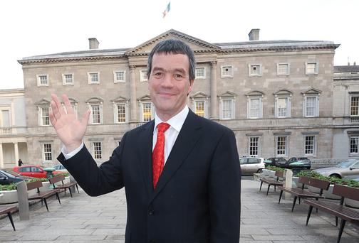 Former Transport Minister Noel Dempsey outside the Dail in 2010. Photo: Damien Eagers