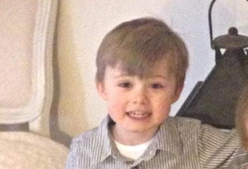 Four-year-old Ciaran Treacy died following a car crash