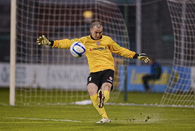 Goalkeeper Gerard Doherty helped Derry City keep a clean sheet against Bray