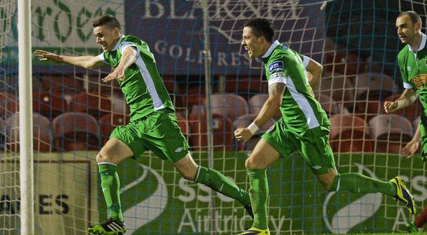 Garry Buckley, left, and Billy Dennehy scored late to earn Cork City a win over Drogheda