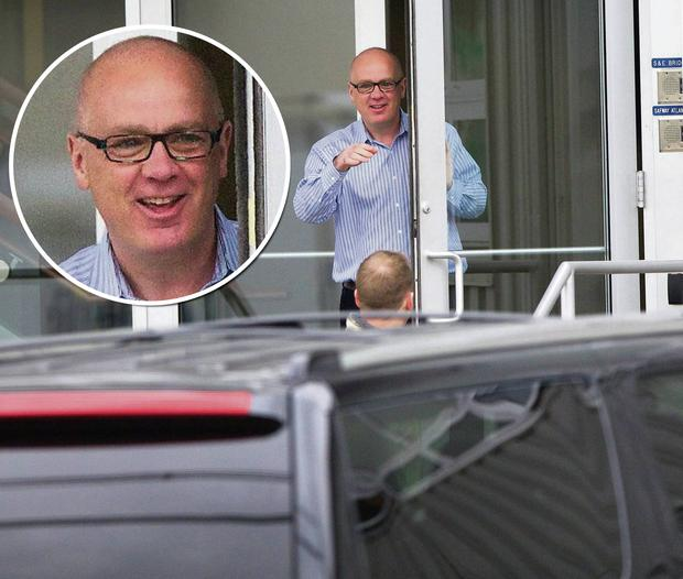A relaxed-looking ex-Anglo boss David Drumm at the offices of Safway Atlantic in New Jersey, where he is doing consultancy work. Photo: Dan Callister