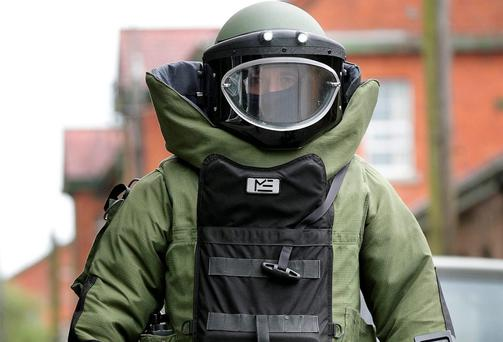 An Irish Defence Forces Bomb disposal officer