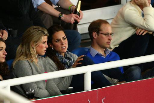 Prince William, Duke of Cambridge and Catherine, Duchess of Cambridge watch on during the round 10 Super Rugby match between the Waratahs and the Bulls at Allianz Stadium Images)