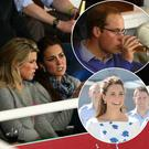 SYDNEY, AUSTRALIA - APRIL 19: Prince William, Duke of Cambridge and Catherine, Duchess of Cambridge watch on during the round 10 Super Rugby match between the Waratahs and the Bulls at Allianz Stadium on April 19, 2014 in Sydney, Australia. (Photo by Cameron Spencer/Getty Images)