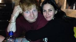Ed Sheeran introduced Courteney Cox to Irish beau Johnny McDaid and the three of them are sewn at the hip