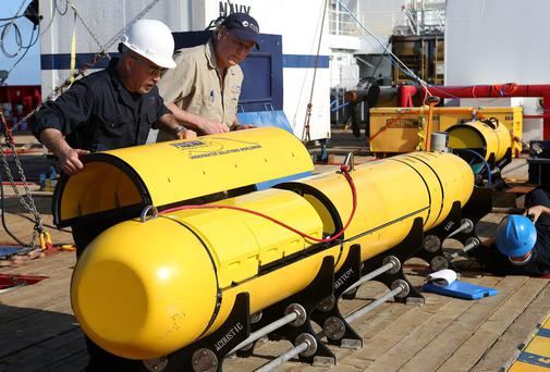 A US Navy deep-sea vehicle (AUV) is scouring a remote stretch of the Indian Ocean floor for signs of the aircraft