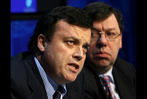 The late Brian Lenihan with Brian Cowen