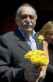 Gabriel García Márquez, the Nobel Literature prize-winning writer and journalist, posed last month on his 87th birthday with a bunch of yellow , on what was one of his final public appearances. The author of One Hundred Years of Solitude, he was known affectionately to friends and fans as Gabo, and was arguably Latin America's best-known author with his books having sold in the tens of millions. Photo: YURI CORTEZ/AFP/Getty Images