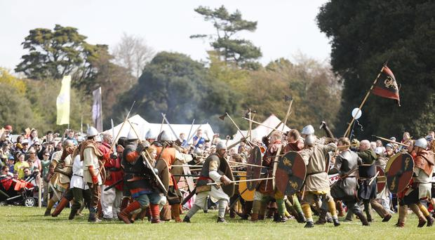 Over 500 vikings took over St Anne's Park in Raheny today for the first day of the Battle of Clontarf Festival, hosted by Dublin City Council