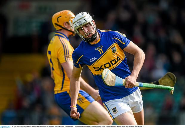 Tipperary's Patrick Maher celebrates scoring his side's first goal of the game