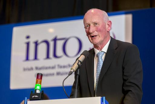 Brian Cody speaking at the INTO conference. Photo: Dylan Vaughan