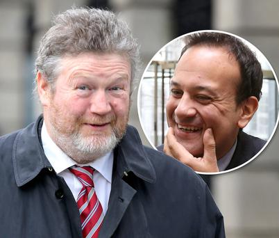 Health Minister James Reilly and, inset, Transport Minister Leo Varadkar