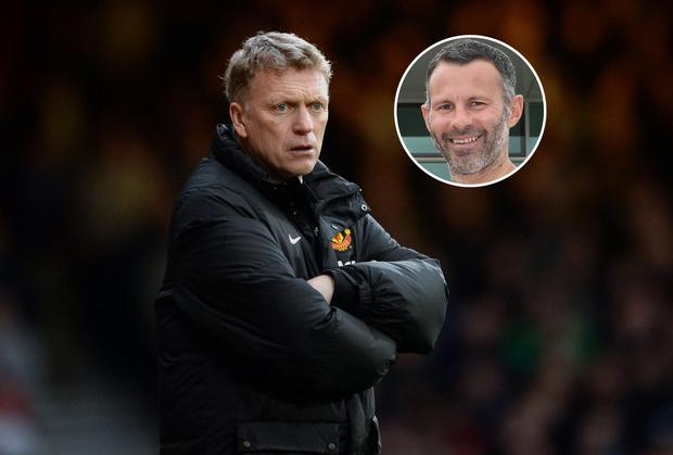 David Moyes the manager of Manchester United and Ryan Giggs
