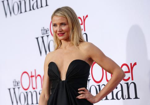 Cast member Cameron Diaz poses at the premiere of the film