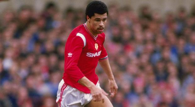 Paul McGrath in his days as a Manchester United player