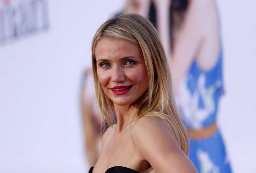 Cast member Cameron Diaz poses at the premiere of the film 'The Other Woman' in Los Angeles. The movie opens in the US on April 25. Reuters