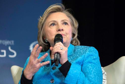US presidential candidate Hillary Clinton. Reuters