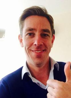 Although it sparked outrage online, Tubridy kept his response light-hearted and posed with his thumbs-up for a 'selfie' on the official 2FM Facebook page.