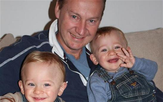 Gary Clarence pictured with his twin boys