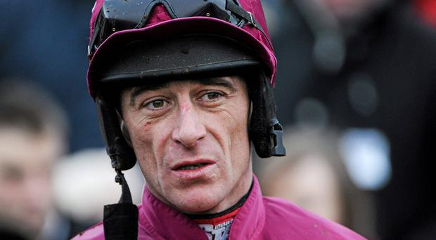 Davy Russell has a chance in each of the programme's three hurdle races. Photo: Ramsey Cardy / SPORTSFILE