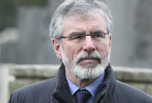 Sinn Fein Leader Gerry Adams has now become an electoral liability. Photo: Damien Eagers